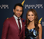 Corbin Bleu and Sasha Clements during the 2019 Drama Desk Awards at Steinway Hall on June 2, 2019  in New York City.