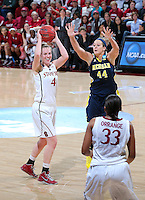STANFORD, CA - March 26, 2013: Stanford Cardinal's Taylor Greenfield in a second round game of the 2013 NCAA Division I Championship  versus Michigan at Maples Pavilion in Stanford, California.  The Cardinal defeated the Wolverines 73-40.