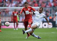 FUSSBALL   1. BUNDESLIGA  SAISON 2012/2013   3. Spieltag FC Bayern Muenchen - FSV Mainz 05     15.09.2012 Mario Mandzukic (li, FC Bayern Muenchen) gegen Nikolce Noveski (1. FSV Mainz 05)