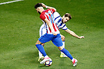 Atletico de Madrid's Yannick Ferreira Carrasco (l) and Real Sociedad's   Inigo Martinez during La Liga match. April 4,2017. (ALTERPHOTOS/Acero)