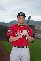 Billings Mustangs outfielder Drew Mount (8) poses for a photo prior to a Pioneer League game against the Ogden Raptors at Lindquist Field on August 17, 2018 in Ogden, Utah. The Billings Mustangs defeated the Ogden Raptors by a score of 6-3. (Zachary Lucy/Four Seam Images)