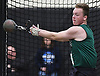 Andrew Saulpaugh of Seaford makes a weight throw during the event's Nassau County championship and state qualifier at St. Anthony's High School on Monday, Feb. 6, 2017.