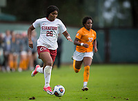 STANFORD, CA - November 23, 2018: Madison Haley at Laird Q. Cagan Stadium. The top seeded Stanford Cardinal defeated the Tennessee Volunteers 2-0 in the Quarterfinal of the NCAA tournament.