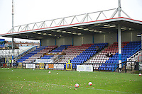 A general view of the ground before the FA Cup 2nd round match between Welling United and Carlisle United at the Park View Road Ground, Welling, England on 6th December 2015. Photo by Alan  Stanford.