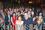 Nifty Fifty.-----------.Ann Mooney and her hubby Noel,Ballyard,Tralee(front centre)had a terrific night celebrating her 50th birthday in the Station House,Blennerville surrounded by many friends and family.