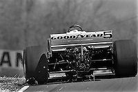 LEXINGTON, OH - MAY 2: Bobby Rahal drives a March 84C/Cosworth during initial testing of Goodyear radial tires for Indy Car racing at the Mid-Ohio Sports Car Course near Lexington, Ohio, on May 2, 1984.