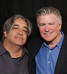 "Stephen Adly Guirgis and Treat Williams attends the photo call for The Dorset Theatre Festival revival of David Mamet's ""American Buffalo""  at the Actors Connection on March 23, 2017 in New York City"
