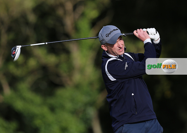 David Fox (Cill Dara) on the 1st tee during the AIG Jimmy Bruen Shield Final at Carton House.17/9/16<br /> <br /> Picture: Golffile   Jenny Matthews<br /> <br /> <br /> All photo usage must carry mandatory copyright credit (&copy; Golffile   Jenny Matthews)