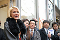 American celebrity Paris Hilton appears at the opening ceremony of a new store by Italian jeweler Bliss at Omotesando Hills in Tokyo. 22 January, 2009. (Taro Fujimoto/JapanToday/Nippon News)