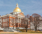 The Massachusetts State House on the Freedom Trail, Boston National Historical Park, Boston, MA