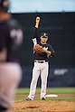 Masahiro Tanaka (Yankees),<br /> MARCH 12, 2015 - MLB :<br /> Pitcher Masahiro Tanaka of the New York Yankees stands on the mound during a spring training baseball game against the Atlanta Braves at George M. Steinbrenner Field in Tampa, Florida, United States. (Photo by Thomas Anderson/AFLO) (JAPANESE NEWSPAPER OUT)