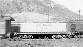 Water car #0470 (Tender type - ex Unitah) at Durango.<br /> D&amp;RGW  Durango, CO  Taken by Maxwell, John W. - 7/2/1969