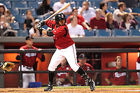 Nashville Sounds Anderson Machada at bat during a game against the Omaha Storm Chasers at Greer Stadium on April 25, 2011 in Nashville, Tennessee.  Omaha defeated Nashville 2-1.  Photo By Mike Janes/Four Seam Images