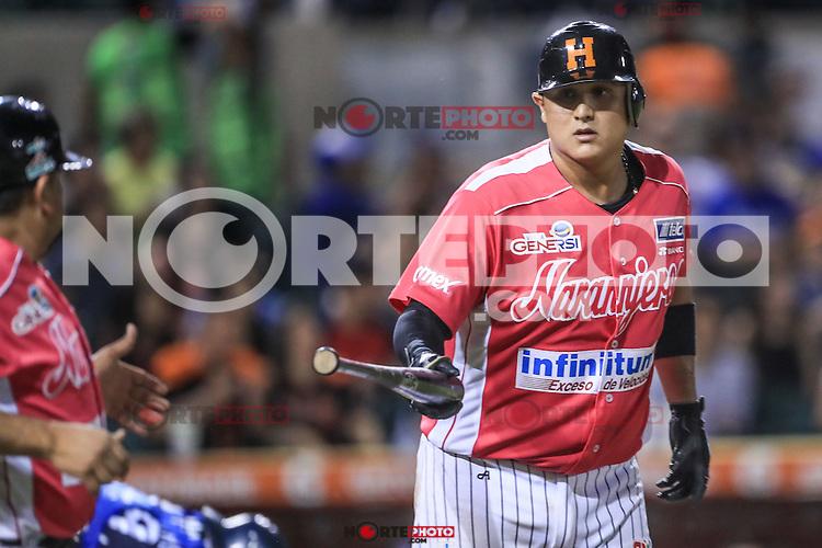 Arturo Rodriguez de Naranjeros, durante el partido2 de beisbol entre Naranjeros de Hermosillo vs Yaquis de Obregon. Temporada 2016 2017 de la Liga Mexicana del Pacifico.<br /> &copy; Foto: LuisGutierrez/NORTEPHOTO.COM