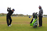 Pablo Larrazabal (ESP) on the driving range during the Preview of the Betfred British Masters 2019 at Hillside Golf Club, Southport, Lancashire, England. 08/05/19<br /> <br /> Picture: Thos Caffrey / Golffile<br /> <br /> All photos usage must carry mandatory copyright credit (© Golffile | Thos Caffrey)