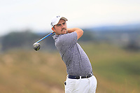 Eoin Leonard (Wentworth) on the 8th tee during the 1/4 Finals of the AIG Irish Close Championship at the European Club, Brittas Bay, Wicklow, Ireland on Monday 6th August 2018.<br /> Picture: Thos Caffrey / Golffile<br /> <br /> All photo usage must carry mandatory copyright credit (&copy; Golffile | Thos Caffrey)
