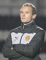 Motherwell coach Jonaton Jahansson in the St Mirren v Motherwell Clydesdale Bank Scottish Premier League U20 match played at St Mirren Park, Paisley on 10.9.12.