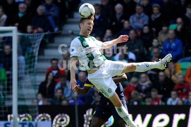 GRONINGEN - Voetbal, FC Groningen - SC Cambuur, Eredivisie, Euroborg, seizoen 2014-2015, 12-04-2015,  FC Groningen speler Rasmus Lindgren