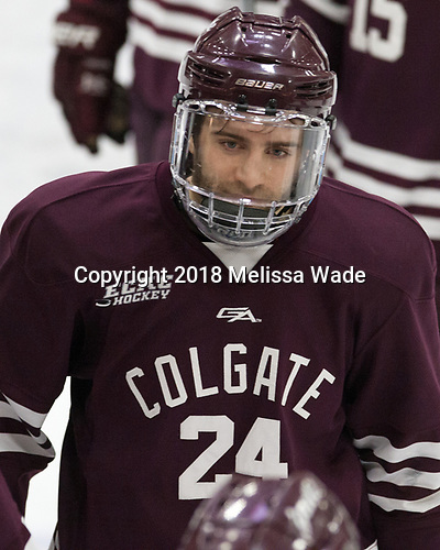 Trevor Cosgrove (Colgate - 24) - The visiting Colgate University Raiders shut out the Harvard University Crimson for a 2-0 win on Saturday, January 27, 2018, at Bright-Landry Hockey Center in Boston, Massachusetts.