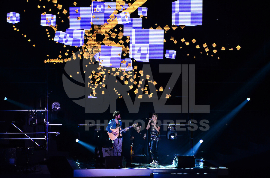 ATENCAO EDITOR: FOTO EMBARGADA PARA VEICULOS INTERNACIONAIS. - RIO DE JANEIRO, RJ,19 DE SETEMBRO 2012 - PREMIO MULTISHOW 2012- Maria Gadu na cerimonia de entrega do Premio Multishow  na noite desta terca dia 18 de setembro, no HSBC Arena, na Barra da Tijuca, zona oestedo Rio de Janeiro.(FOTO: MARCELO FONSECA / BRAZIL PHOTO PRESS).