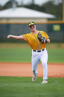 North Dakota State Bison first baseman Mason Pierzchalski (10) during warmups before a game against the Central Connecticut State Blue Devils on February 23, 2018 at North Charlotte Regional Park in Port Charlotte, Florida.  North Dakota State defeated Connecticut State 2-0.  (Mike Janes/Four Seam Images)