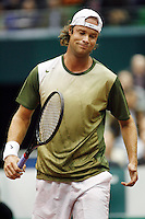 21-2-07,Tennis,Netherlands,Rotterdam,ABNAMROWTT, Martin Verkerk is diapointed after loosing the first set