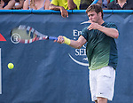 Ryan Harrison (USA) defeats Lleyton Hewitt 6-3, 7-5 at the CitiOpen 2013 in Washington, D.C., Washington, D.C.  District of Columbia on July 30, 2013.