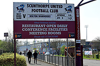 A general view of Glanford Park, home of Scunthorpe United<br /> <br /> Photographer Chris Vaughan/CameraSport<br /> <br /> The EFL Sky Bet League One - Scunthorpe United v Bolton Wanderers - Saturday 8th April 2017 - Glanford Park - Scunthorpe<br /> <br /> World Copyright &copy; 2017 CameraSport. All rights reserved. 43 Linden Ave. Countesthorpe. Leicester. England. LE8 5PG - Tel: +44 (0) 116 277 4147 - admin@camerasport.com - www.camerasport.com