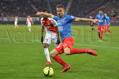 04.03.2016. Caen, France. French League 1 football. Caen versus Monaco.  DAMIEN DA SILVA (caen) clears his box