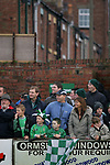 Burscough 3, Gillingham 2, 05/11/2005. Victoria Park, Burscough, FA Cup first round. Fans watching the first-half action. The home team (in green) from the Northern Premier League Premier Division defeated their Football League Championship rivals by 3-2 with two goals in the last minute, watched by a crowd of 1927 spectators. Photo by Colin McPherson.