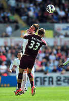 Pictured: (R-L) Matija Nastasic, Michu.<br />