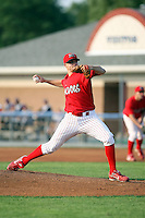 August 3rd 2008:  Pitcher Josh Hester of the Batavia Muckdogs, Class-A affiliate of the St. Louis Cardinals, during a game at Dwyer Stadium in Batavia, NY.  Photo by:  Mike Janes/Four Seam Images