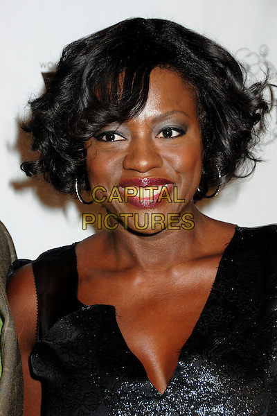 VIOLA DAVIS .3rd Annual Women In Film Pre-Oscar Party held at a Private Residence in Beverly Hills, California, USA, .4th March 2010..portrait headshot smiling  black shiny sparkly .CAP/ADM/BP.©Byron Purvis/AdMedia/Capital Pictures.