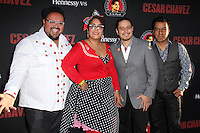 """La Santa Cecilia<br /> at the """"Cesar Chavez"""" Los Angeles Premiere, TCL Chinese Theater, Hollywood, CA 03-20-14<br /> David Edwards/DailyCeleb.Com 818-249-4998"""