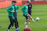 09.01.2020, Sportzentrum RCD Mallorca, Son Bibiloni, ESP, TL Werder Bremen -  Training Tag 07<br /> <br /> im Bild / picture shows <br /> <br /> Aufwaermtraining / Gymnastik / <br /> Jiri Pavlenka (Werder Bremen #01)<br /> Marco Friedl (Werder Bremen #32)<br /> <br /> Foto © nordphoto / Kokenge