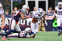Sunday, October 2, 2016: New England Patriots cornerback Logan Ryan (26) tackles Buffalo Bills wide receiver Robert Woods (10) during the NFL game between the Buffalo Bills and the New England Patriots held at Gillette Stadium in Foxborough Massachusetts. Buffalo defeats New England 16-0. Eric Canha/Cal Sport Media