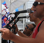 "Members of the singing group, ""Soldout"" performing at the Saugerties Annual ""Car Show"" in Saugerties, NY on Saturday, July 9, 2011. Photo by Jim Peppler. Copyright © Jim Peppler 2011."
