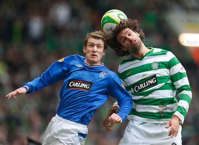 Steven Davis and Georgios Samaras go head to head