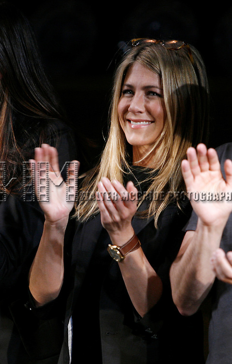 Jennifer Aniston.during the Curtain Call for the 9th Annual Production of The 24 Hour Plays on Broadway at The American Airlines Theatre in New York City..November 9, 2009.© Walter McBride /