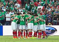 Pasadena, CA - Thursday June 09, 2016: Mexico Team during a Copa America Centenario Group C match between Mexico (MEX) and Jamaica (JAM) at Rose Bowl Stadium.