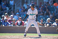 Salt River Rafters Jose Devers (2), of the Miami Marlins organization, at bat during the Arizona Fall League Championship Game against the Surprise Saguaros on October 26, 2019 at Salt River Fields at Talking Stick in Scottsdale, Arizona. The Rafters defeated the Saguaros 5-1. (Zachary Lucy/Four Seam Images)