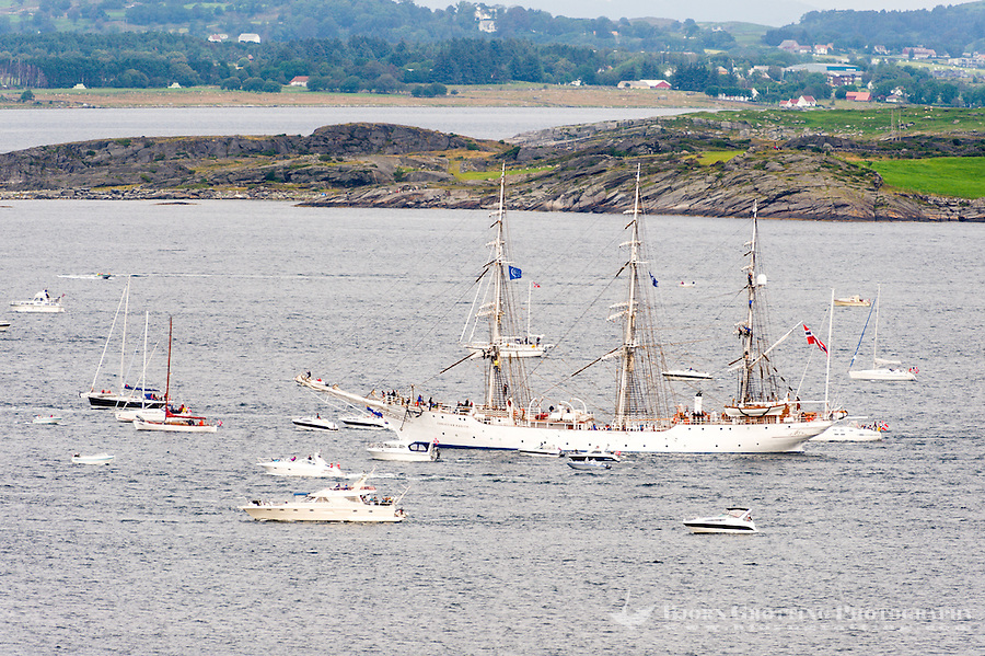 Norway, Randaberg. Tall Ships Race in Stavanger 2011. Goodbye, fare thee well! Christian Radich.