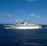 The old Oriana saling in the South Pacific, circa 1980.