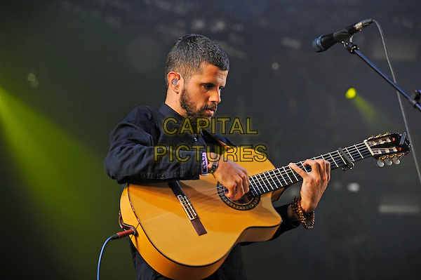 ISLE OF WIGHT, ENGLAND - SEPTEMBER 5: Nick Mulvey performing at Bestival, Robin Hill Country Park on September 5 in Isle of Wight, England<br /> CAP/MAR<br /> &copy; Martin Harris/Capital Pictures
