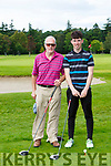 Pat Noonan and Jack Linehan enjoying a round of golf in O'Mahony's Point on Monday