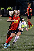 Rochester, NY - Friday April 29, 2016: Western New York Flash forward Adriana Leon (19). The Washington Spirit defeated the Western New York Flash 3-0 during a National Women's Soccer League (NWSL) match at Sahlen's Stadium.