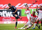 nph00351: Fussball, 1. Bundesliga, Saison 19/20, 26. Spieltag, Fortuna Düsseldorf - FC Paderborn 07, 16.05.2020:<br /> Dennis Srbeny (SCP), Andre Hoffmann (F95)<br />  <br /> <br /> Nur für journalistische Zwecke! Only for editorial use!<br /> <br /> Gemäß den Vorgaben der DFL Deutsche Fußball Liga ist es untersagt, in dem Stadion und/oder vom Spiel angefertigte Fotoaufnahmen in Form von Sequenzbildern und/oder videoähnlichen Fotostrecken zu verwerten bzw. verwerten zu lassen. DFL regulations prohibit any use of photographs as image sequences and/or quasi-video. <br /> <br /> Foto: Moritz Müller/Pool / via Meuter/nordphoto