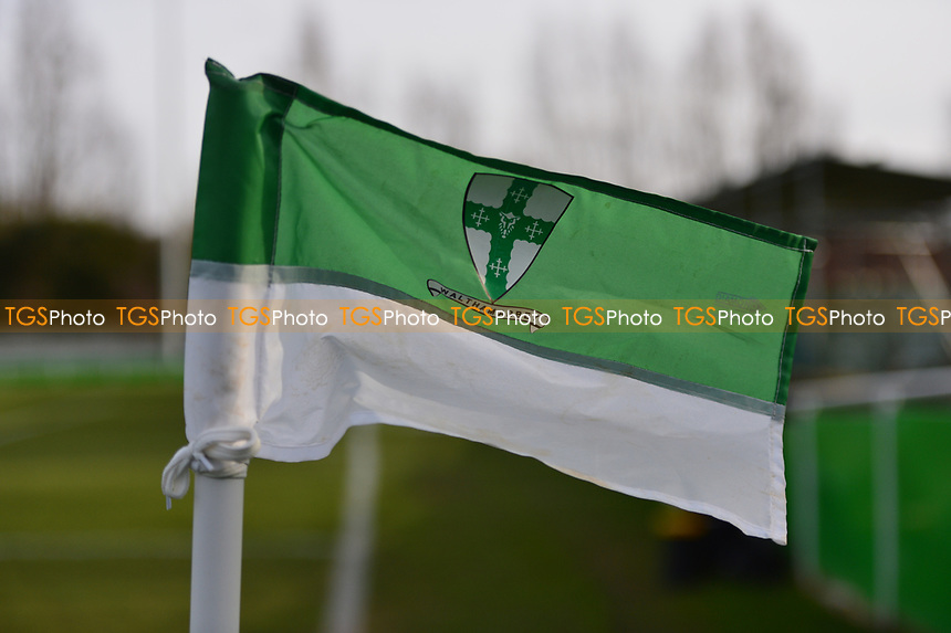 Waltham Abbey Flag during Waltham Abbey vs Bracknell Town, Bostik League South Central Division Football at Capershotts on 9th February 2019