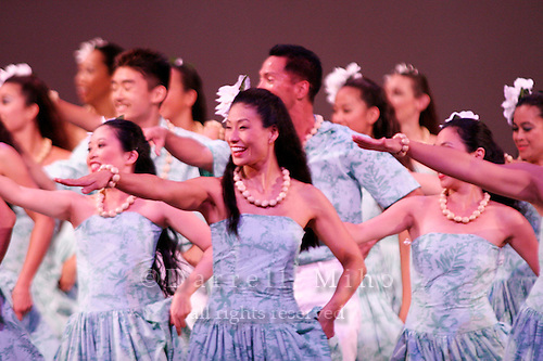 July 23, 2006; Torrance, CA, USA;  Members of hula halau Keali'i 'O Nalani perform at their annual hoike held at the Marsee Auditorium at El Camino College.&amp;#xA;&amp;#xA;Photo credit: Darrell Miho<br />