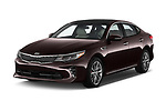 2017 KIA Optima SX Limited AT 4 Door Sedan angular front stock photos of front three quarter view